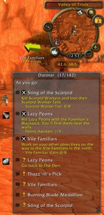 WoW-Pro Addon - Default View