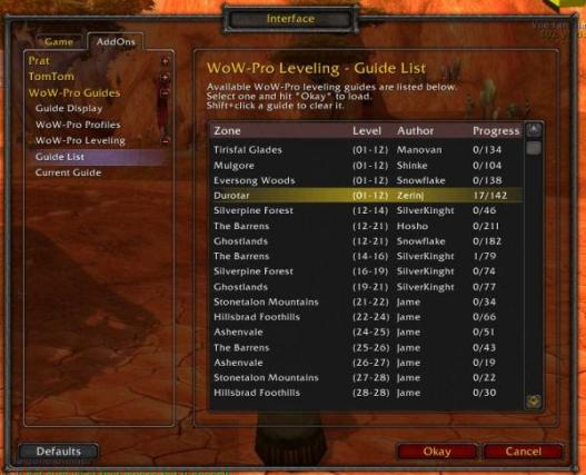 WoW-Pro Addon - Guide List